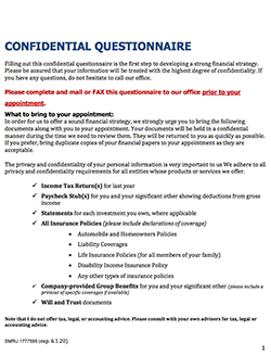Confidential Questionnaire thumbnail
